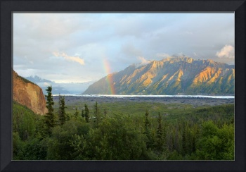 Alaska Matanuska Glacier under the  Rainbow