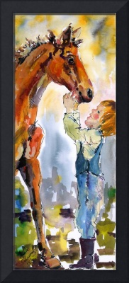 Trust is Earned - Two Youngsters WC Painting