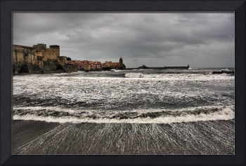 The surfer in Collioure