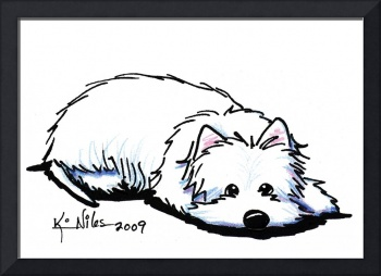 Pouting Westie Terrier