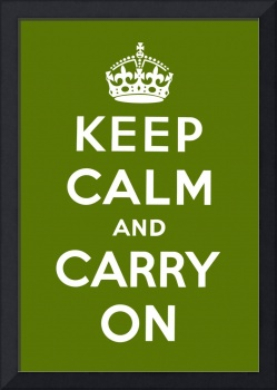 Green Keep Calm And Carry On 3