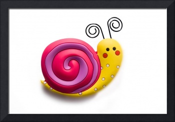 Bright and funny toy snail