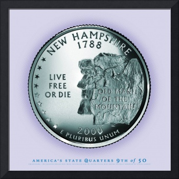 New Hampshire State Quarter - Portrait Coin 09
