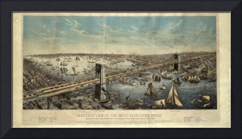 Vintage Brooklyn Bridge Illustration (1883)