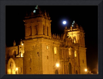 Full Moon Over the Cathedral