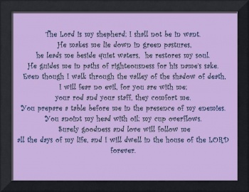 psalm 23 purple on purple