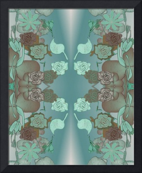 Squash Blossom Turquoise Pattern, textile