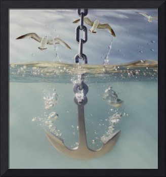 anchor dropping into water