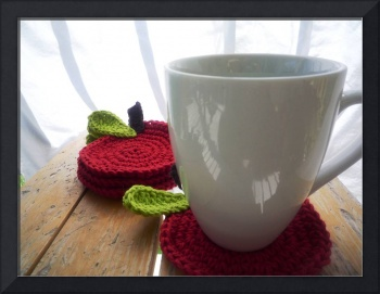 coasters red apples (set of 4)