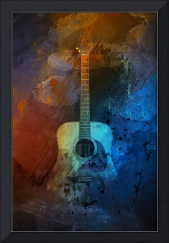 Guitar Grunge Abstract