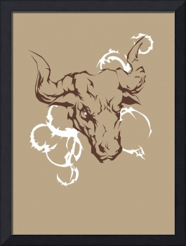 Bull on Canvas