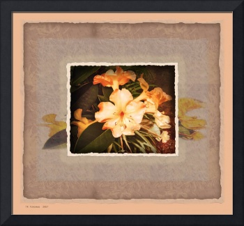 Hawaii yellow hibiscus collage print dkr