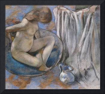 Woman in the Tub, 1884 (pastel on paper)
