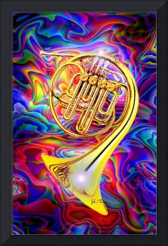 Psychedelic French horn