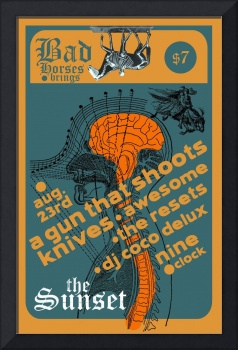 The Sunset 082307 Gig Poster