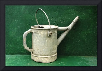 watering can on a green background