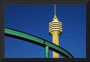 TV Tower with monorail in Thailand