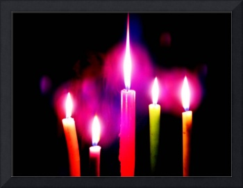 Colourful Candles Hide the face