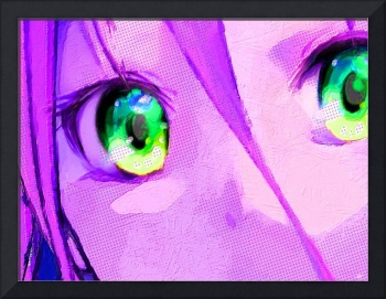 Anime Girl Eyes Pink