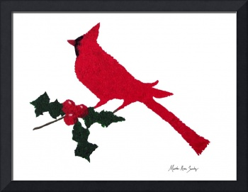 Winter Cardinal & Holly Berries 1R