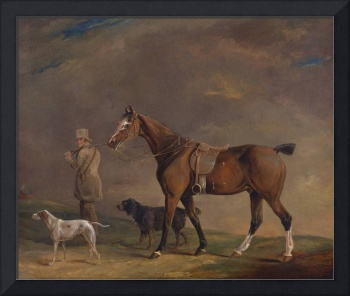 A Sportsman with Shooting Pony and Gun Dogs by Edw