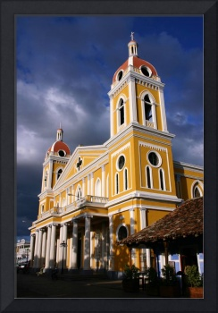 Cathedral of Grenada bathed in late evening sunlig