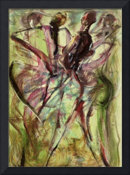 Windy Day, (mixed media) by Ikahl Beckford