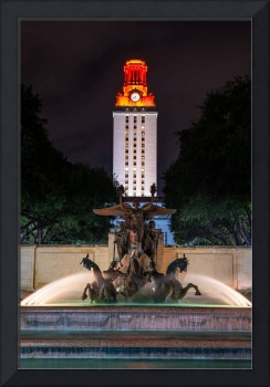 UT Tower with Littlefield Fountain Vertical