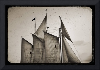 Tall Ship Schooner Sails