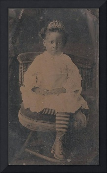 Little Girl with Tiara 1800s
