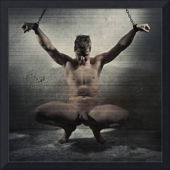 Photograph cuffed male bdsm style