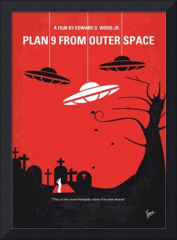 No518 My Plan 9 From Outer Space minimal movie pos