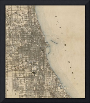 Vintage Map of Chicago (1899)
