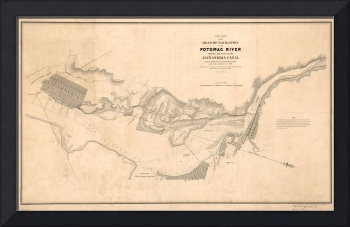 Vintage Map of The Potomac River (1838)