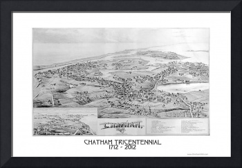 Chatham, Cape Cod Bird's Eye View- 1894