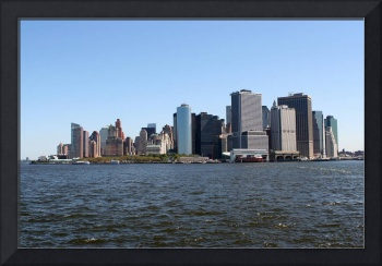 panoramic view of downtown Manhattan