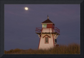 Full Moon And Covehead Lighthouse, Prince Edward I