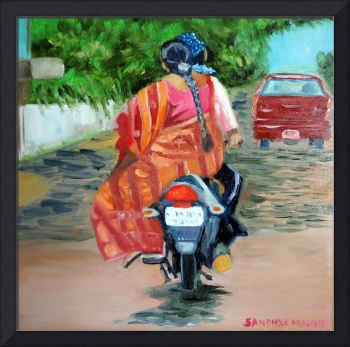 The pillion rider