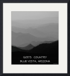 God's Country  Blue Vista Arizona poster by Jacque Alameddine