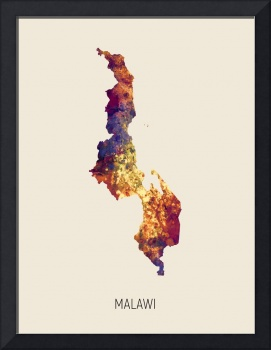 Malawi Watercolor Map