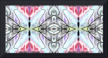 Black Outlined Colorful Abstract