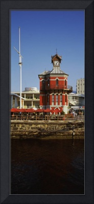 Clock tower in a city Victoria and Alfred Waterfr
