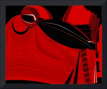 abstract city red black