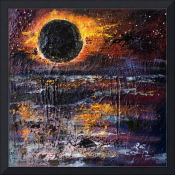 Eclipse Modern Impressionist Oil Painting