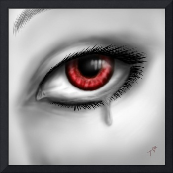 Eye of Red Crying