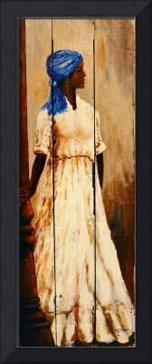 New Orleans Lady   SOUTHERN ART AFRICAN AMERICAN A