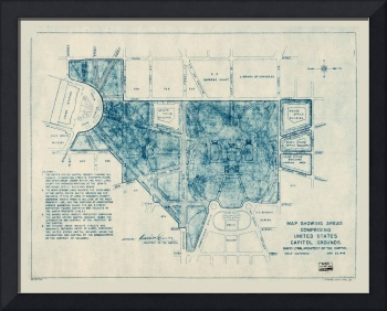 United States Capitol Grounds Map (1946)