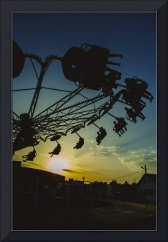 Amusement park sunset