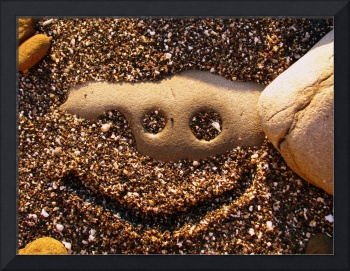 Smiley in Sand