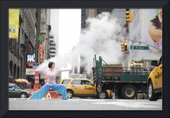Elegant Yoga in Times Square, New York Project